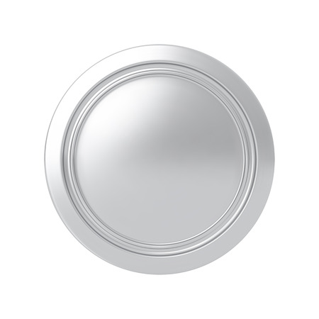 silver medal: Silver medal. Round button. Highly detailed vector illustration. Illustration