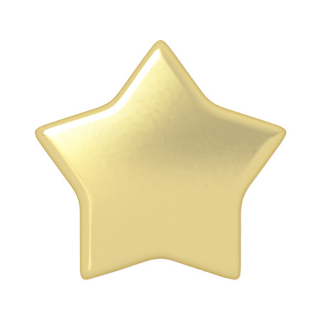 gold star: Gold star. Button. Icon. Highly detailed vector illustration.