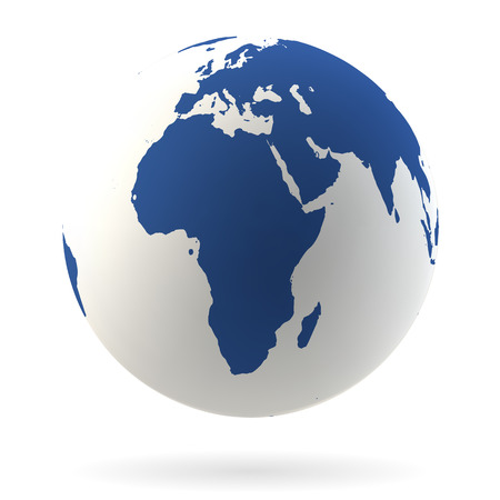 Highly detailed Earth globe, Africa and Middle East