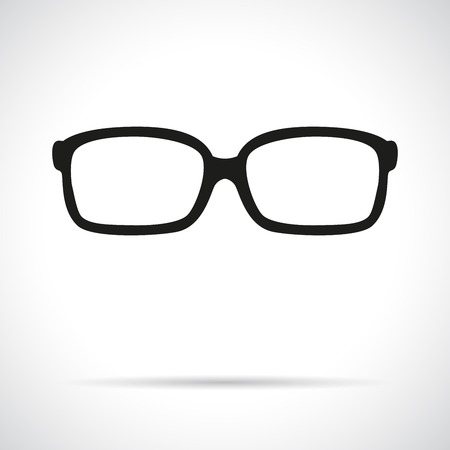 Glasses icon. Flat modern design with shadow.