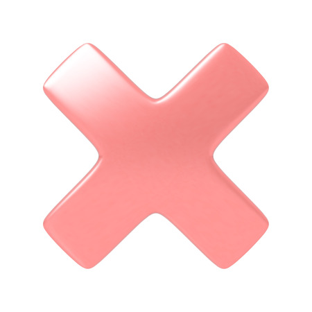 Red cancel cross sign. Highly detailed vector illustration. Vector