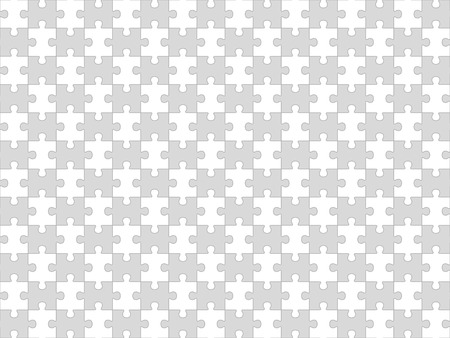 pices: Jigsaw puzzle seamless pattern. White pices. Vector illustration.
