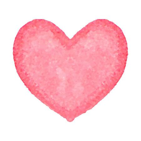 arte abstrata: Coração da aguarela. Entregue a arte abstrato tirado. Elemento do projeto para Dia dos Namorados, casamento, chá de bebê, cartão de aniversário etc. Ilustração do vetor.