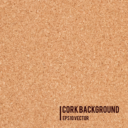 Realistic cork board texture background. Abstract vector illustration.