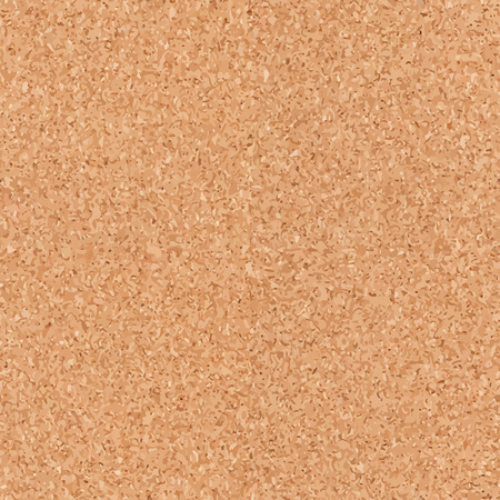 Seamless cork board texture background. Abstract vector illustration.