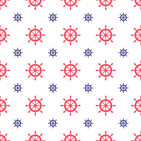 cute wallpaper: Seamless nautical pattern with scattered ship wheels. Design element for wallpapers, baby shower invitation, birthday card, scrapbooking, fabric print etc. Illustration