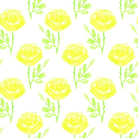 printables: Seamless floral pattern. Hand painted rose flowers.  Graphic element for baby shower or wedding invitations, birthday card, printables, wallpaper, scrapbooking. Vector illustration.