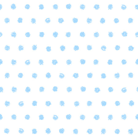 printables: Polka dot seamless pattern. Hand painted oil pastel crayon. Vintage baby blue color. Design element for printables, wallpapers, baby shower invitation, birthday card, scrapbooking, fabric print etc. Illustration