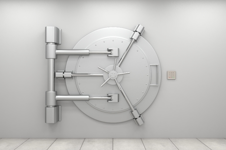 door lock: Bank vault door
