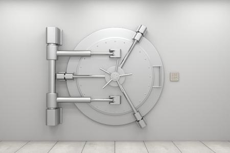 protección: Puerta de la bóveda del Banco