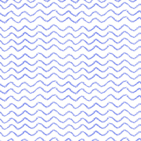 Striped seamless pattern. Hand painted oil pastel crayon.  Nautical sea waves. Vintage baby blue color. Design element for printables, wallpapers, baby shower invitation, birthday card, scrapbooking, fabric print etc.