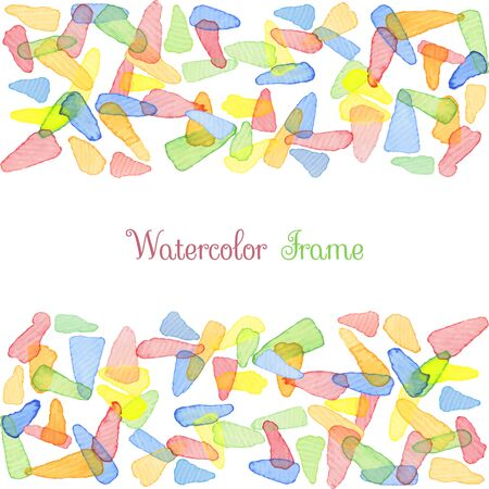 water color: Hand painted water color brush stains with text