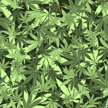 シームレスな大麻葉パターンです。医学のマリファナ文化の概念を合法化します。