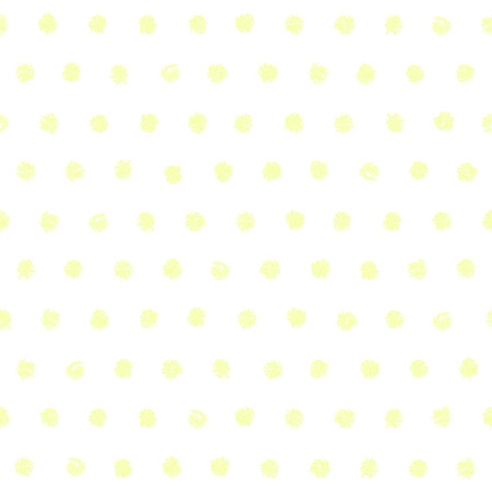 printables: Polka dot seamless pattern. Hand painted oil pastel crayon. Vintage yellow color. Design element for printables, wallpapers, baby shower invitation, birthday card, scrapbooking, fabric print etc. Illustration