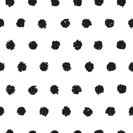 printables: Polka dot seamless pattern. Hand painted oil pastel crayon. Design element for printables, wallpapers, baby shower invitation, birthday card, scrapbooking, fabric print etc.