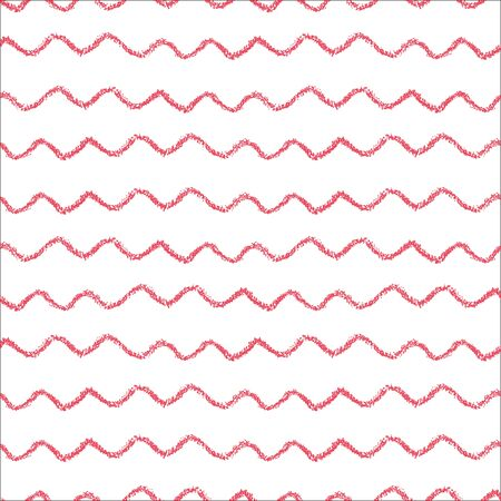Striped seamless pattern. Hand painted oil pastel crayon.  Nautical sea waves. Design element for printables, wallpapers, baby shower invitation, birthday card, scrapbooking, fabric print etc.
