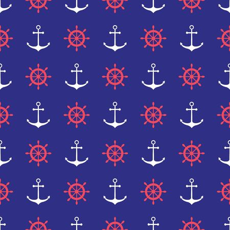 scrap booking: Seamless nautical pattern with anchors. Design element for wallpapers, baby shower invitation, birthday card, scrap booking, fabric print etc.