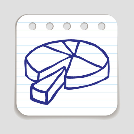pie chart icon: Doodle Pie Chart icon.
