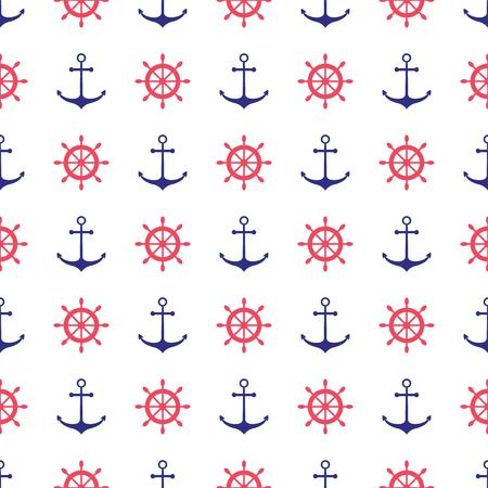 Patrón de náutica sin fisuras con las anclas. Elemento de diseño para fondos de pantalla, invitación de la ducha del bebé, tarjeta de cumpleaños, reservación del desecho, de impresión de tela, etc. Foto de archivo - 49218487