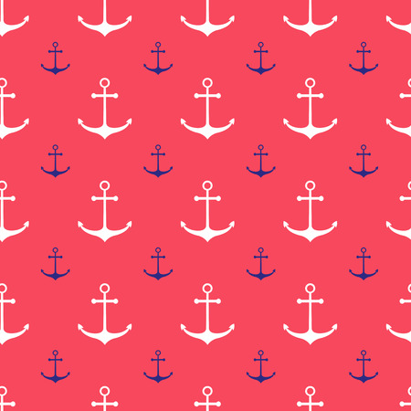 Seamless nautical pattern with anchors. Design element for wallpapers, baby shower invitation, birthday card, scrapbooking, fabric print etc. Vectores