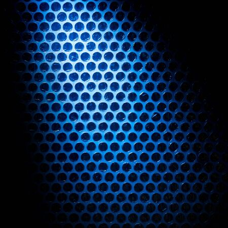 printables: Abstract geometric background. Black circles on blue with shaded corners. Futuristic modern  backdrop. 3D style graphic element for web background, printables, scrapbooking.