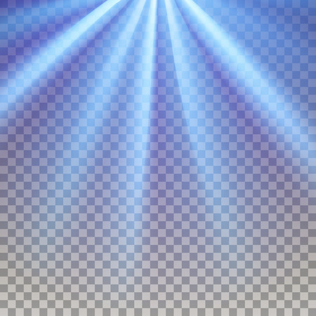 and he shines: Blue flare. Electric polar rays. Glaring effect with transparency. Abstract glowing light background. Ready to apply. Graphic element for documents, templates, posters, flyers. Vector illustration