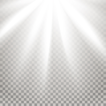 glaring: Rays of light. Glaring effect with transparency. Abstract glowing light background. Ready to apply. Graphic element for documents, templates, posters, flyers. Vector illustration Illustration