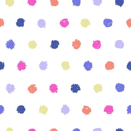 polka dot fabric: Polka dot seamless pattern. Hand painted oil pastel crayon. Design element for printables, wallpapers, baby shower invitation, birthday card, scrapbooking, fabric print etc.