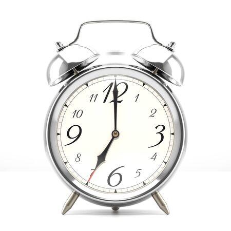 midnight hour: Ringing alarm clock.