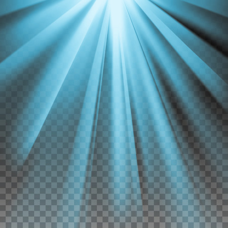 he is beautiful: Blue flare. Electric polar rays. Glaring effect with transparency. Abstract glowing light background. Ready to apply. Graphic element for documents, templates, posters, flyers. Vector illustration