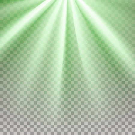 he is beautiful: Green flare. Glaring effect with transparency. Abstract glowing light background. Ready to apply. Graphic element for documents, templates, posters, flyers. Vector illustration