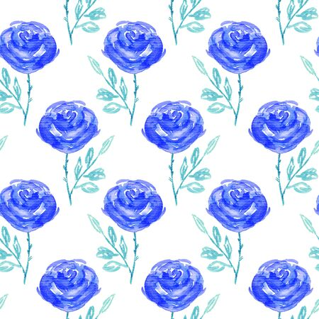 printables: Seamless floral pattern. Hand painted rose flowers. Graphic element for baby shower or wedding invitations, birthday card, printables, wallpaper, scrapbooking.