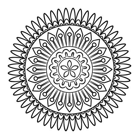 Mandala Del Corazon Del Doodle En Pizarra Contorno De Flores En