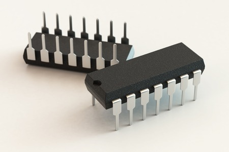 dip: DIP chip package. Technology, electronic industry, research and development, future gadgets concept