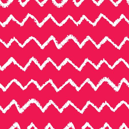 Seamless chevron pattern. Hand painted with oil pastel crayons. Red stripes on white background. Design element for printables, wallpaper, baby shower invitation, birthday card, scrapbooking etc.