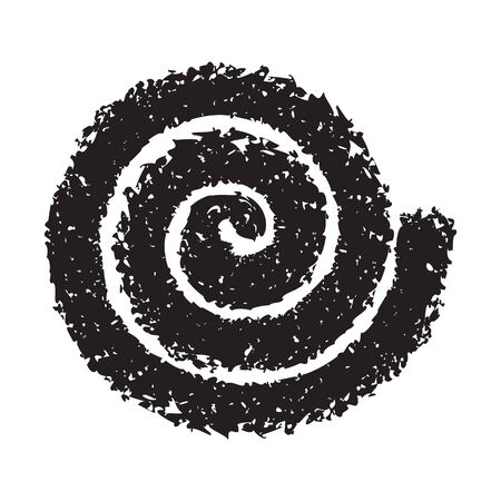 whitem: Spiral symbol hand painted with crayon