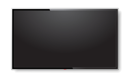 Realistic TV screen mock up isolated on white Illustration