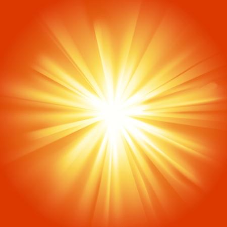 he is beautiful: Glowing light yellow orange burst Illustration