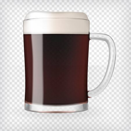 guinness: Realistic Mug with Beer