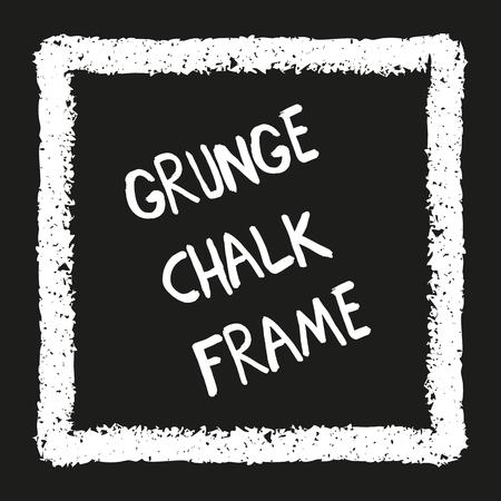 Chalk crayon square on black