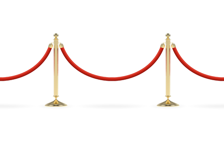 Barriers with red rope Illustration