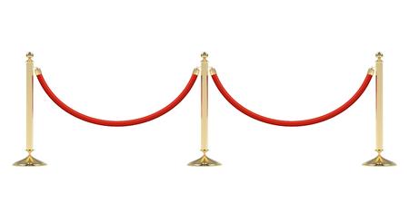 Obstacles à la corde rouge Banque d'images - 80715397