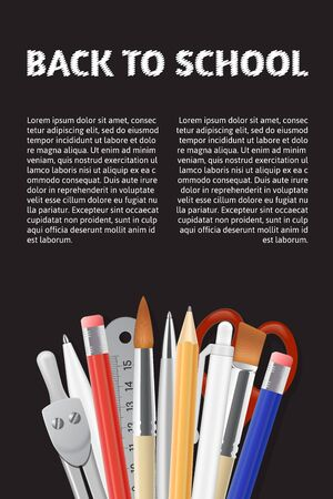 website header: Back to School poster