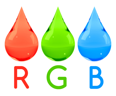 Ink drops set RGB