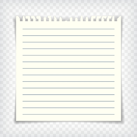 small business: Empty lined note book page with torn edge Illustration