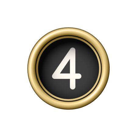 Nombre à l & # 39 ; or spéciale élément de la Banque d'images - 88468759