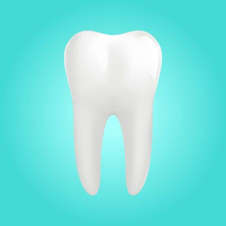 White molar tooth poster template Illustration