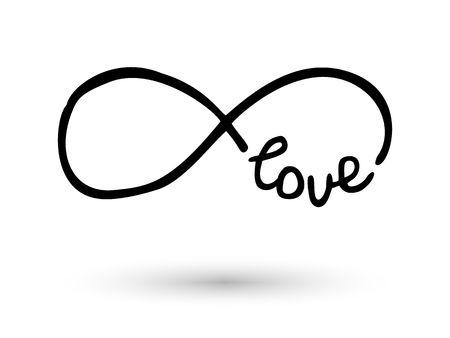 Infinity symbol hand drawn with ink brush