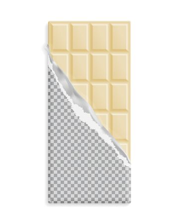 White Chocolate Bar, Wrapper With Chocolate Swirl, Can Be Replaced ...