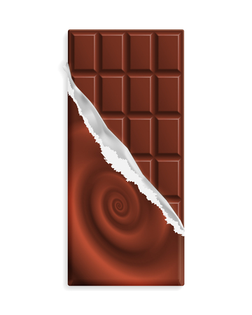 Milk chocolate bar, wrapper with chocolate swirl, can be replaced with your design.